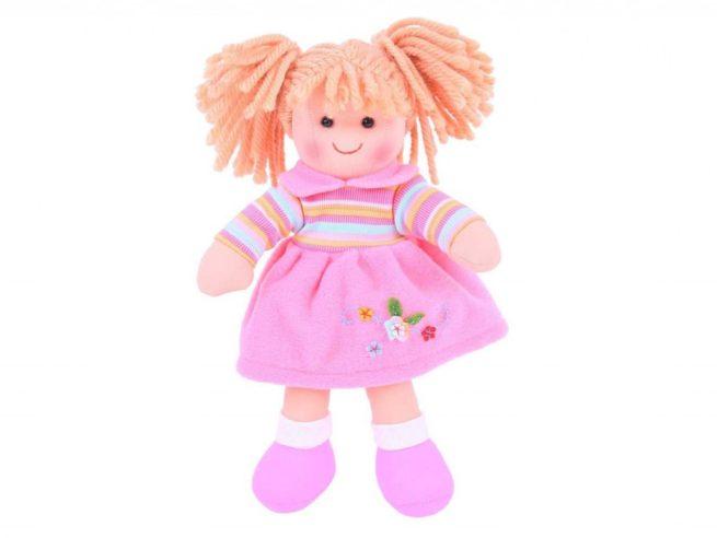 morbida bambola in tessuto naturale