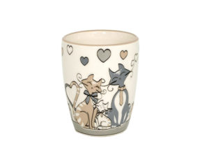 tazza mug con gattini, ceramiche con i gatti, oggettistica con gatto,mug with kittens, cats with ceramics, objects with cat