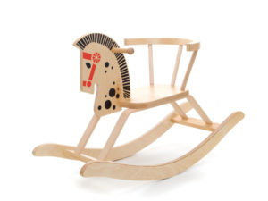 wooden rocking horse, cavallino a dondolo in legno, regalo ideale per battesimo