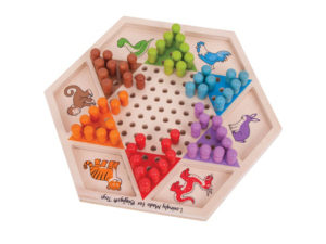 dama cinese per bambini e adulti, gioco tradizionale e di strategia, bigjigs toys,Chinese checkers for children and adults, and traditional game of strategy, bigjigs toys,
