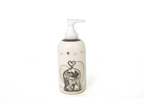porta sapone liquido con gatti , accessori per il bagno spiritosi con animali ,regalo per amanti dei gatti ,liquid soap with cats, bathroom accessories with funny animals, gift for cat lovers