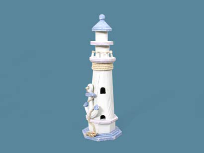 decorazione a forma di faro , regalo per amanti del mare,shaped decoration lighthouse, gift for lovers of the sea