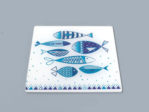 sottopentola, tagliere con soggetto marino , piatto da portata mare ,trivets, cutting board with marine subject, flat sea reach,
