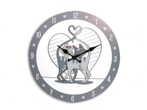 orologio da parete con gatti , sveglia con gattini,micio, complementi d'arredo spiritosi con gatti,wall clock with cats, alarm clock with kittens, kitty, furniture with funny cats