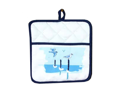 presina con gabbiano,accessori da cucina con soggetti marini,oggettistica marina vendita online,potholder with gull, kitchen accessories with marine, marine objects sale online,