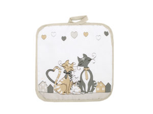 presina con gattini,accessori da cucina con gatti,oggettistica con gatti vendita online,potholder with kittens, cats with kitchen accessories, gifts with cats for sale online