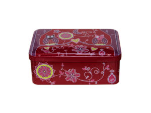 box cake with owls, box aluminum colored,scatola per dolci con civette, scatola in alluminio colorata