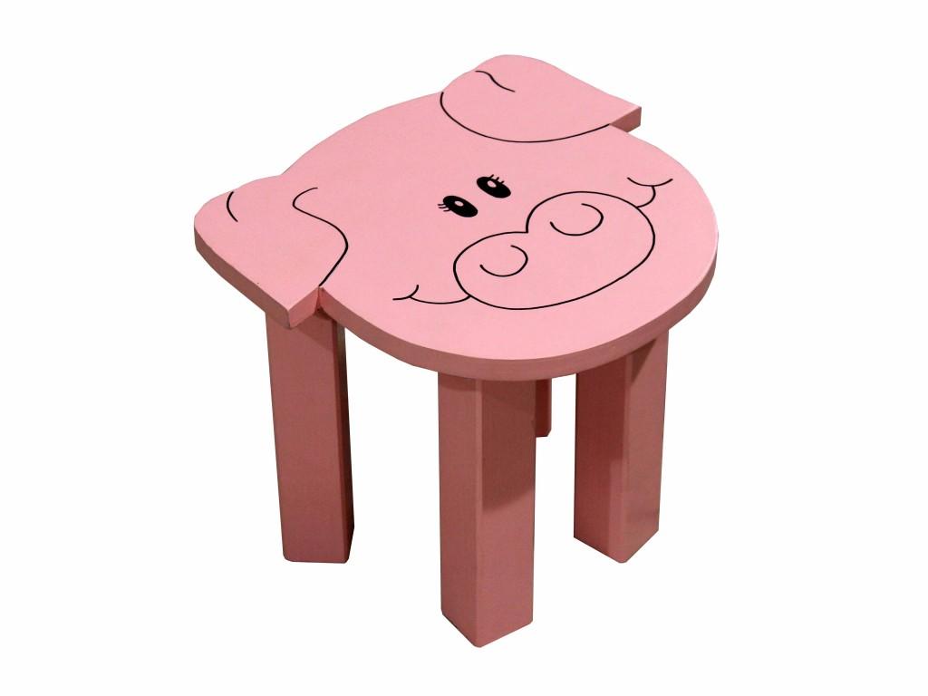 Vintage decorative in legno bambini sgabello per tavolo rotondo