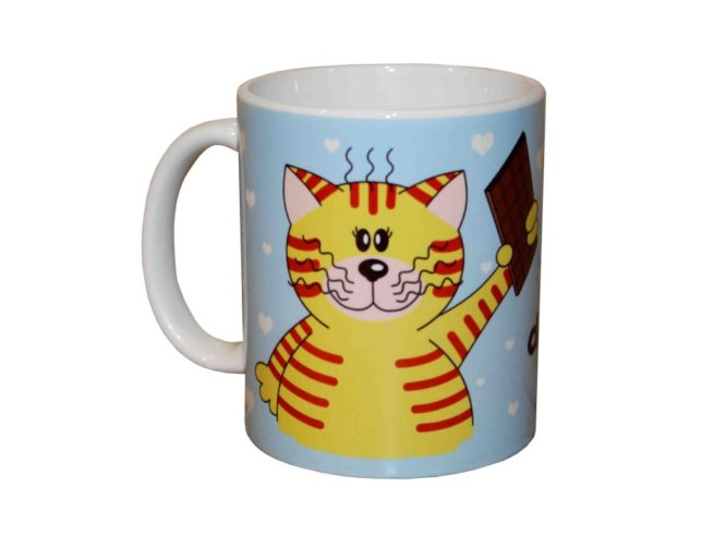 cat cup, best wishes Mum, chocolate, mug gattino , festa della mamma