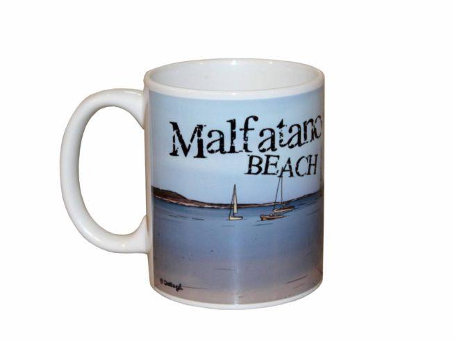tazza souvenir sardegna , baia di malfatano , teulada , souvenir mug Sardinia, Bay Malfatano, Teulada