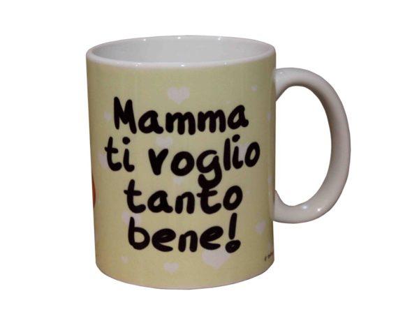 cup cow, red heart, gift for mom , mug per la colazione con mucca, dedica alla mamma , festa della mamma