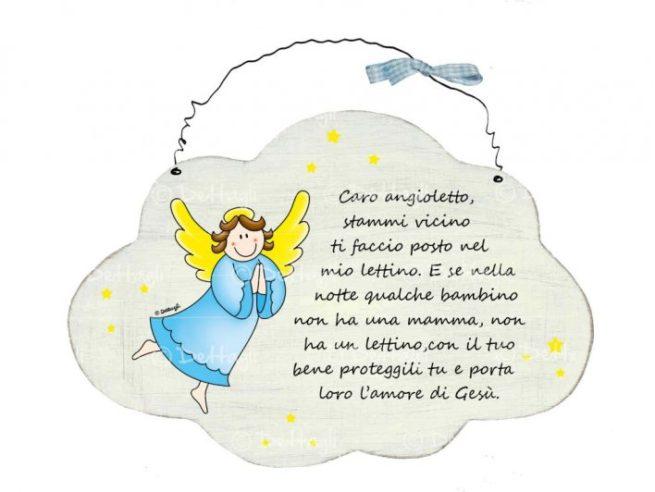 targhetta targa in legno con preghiera per bambini , angelo custode,creazioni dettagli,plate wooden plaque with prayer for children, guardian angel, creations details,