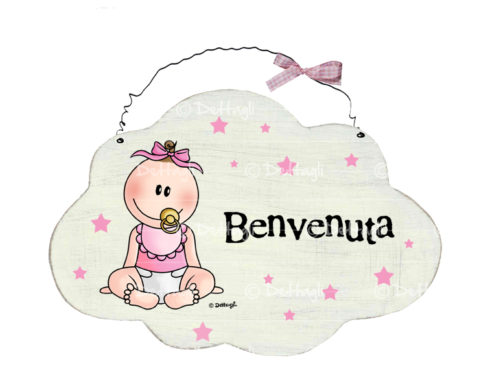 targhetta di benvenuto, per le porte di casa,regalo per neonato,creazione dettagli cagliari,plate of welcome, to the doors of the house, gift for baby, creation details cagliari,