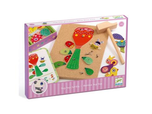 gioco per sviluppare la manualità, costruisci con chiodini e martello, giocattoli djeco, dj06643