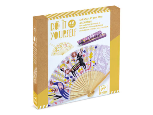 set creativo per giovani artisti, crea il tuo ventaglio, djeco dj07945