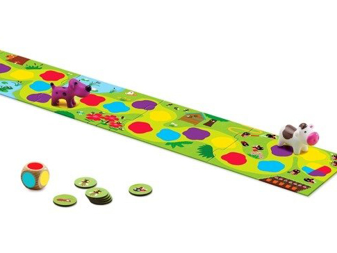 primo gioco di percorso per bambini da 2 anni e mezzo, primi giochi da tavolo per bambino piccoli giocattoli djeco, dj08550