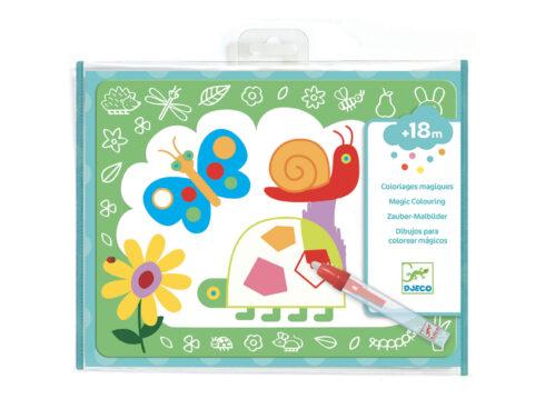 colorare con l'acqua, primi giochi creativi per bambini piccoli djeco, dj09067