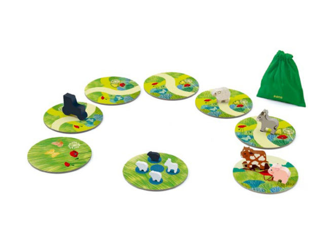 gioco di cooperazione per bambini dai 4 anni, gioco di animali, dj08483