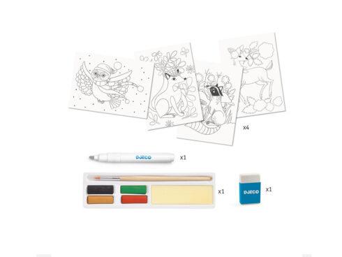 set creativo per imparare a dipingere con gli acquarelli dj08602