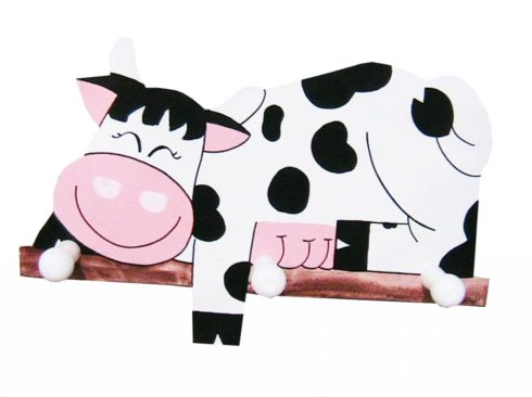 appendino spiritoso per bambino , vendita online oggetti con mucche, creazioni dettagli cagliari, witty hanger for baby, online sale items with cows