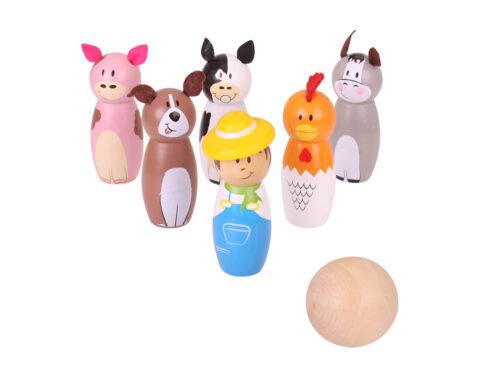 birilli per bambini con animali bj955