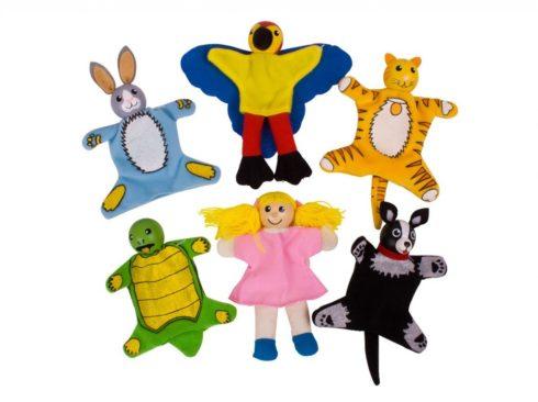 marionetta da dito , animali da compagnia, cane, gatto, coniglio, tartaruga e pappagallo , finger puppet, pet, dog, cat, rabbit, turtle and parrot,bigjigs toys