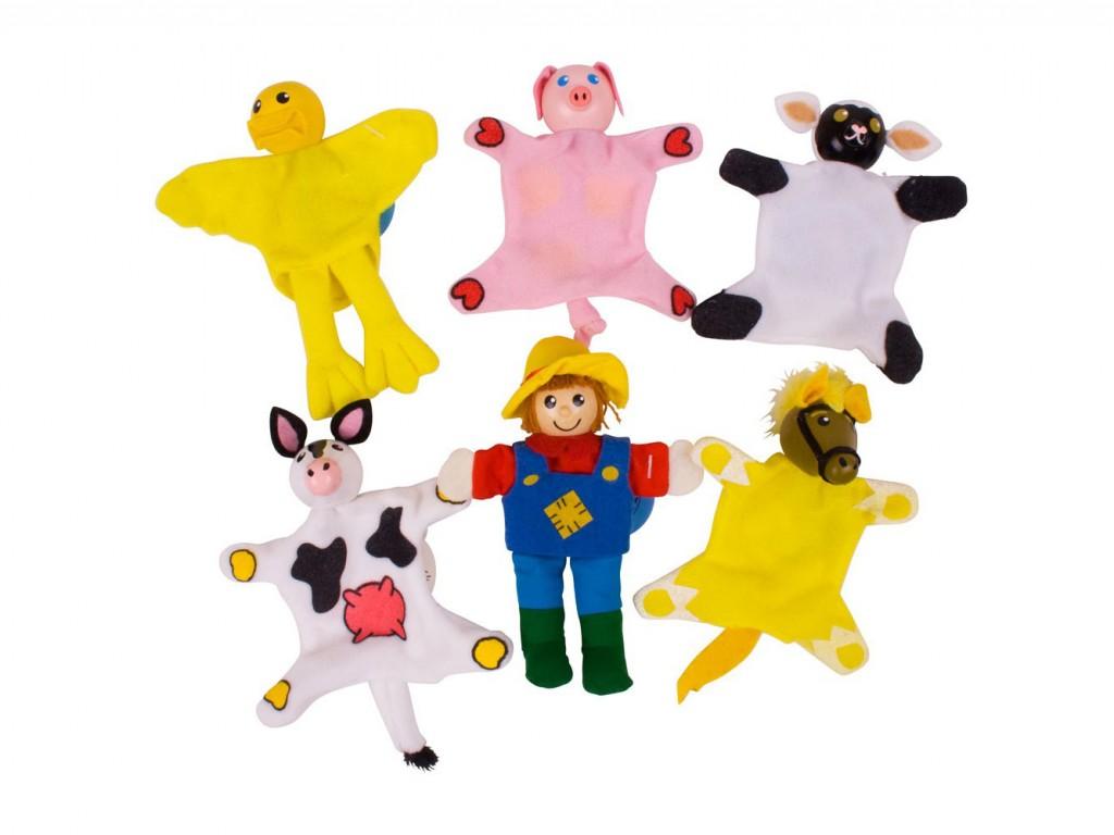 marionetta da dito , animali della fattoria,finger puppet, farm animals, bigjigs toys