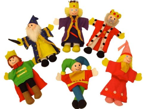 burattini da dito famiglia reale, regalo per piccoli artisti,Finger puppets royal family, gift for little artists,bigjigs toys