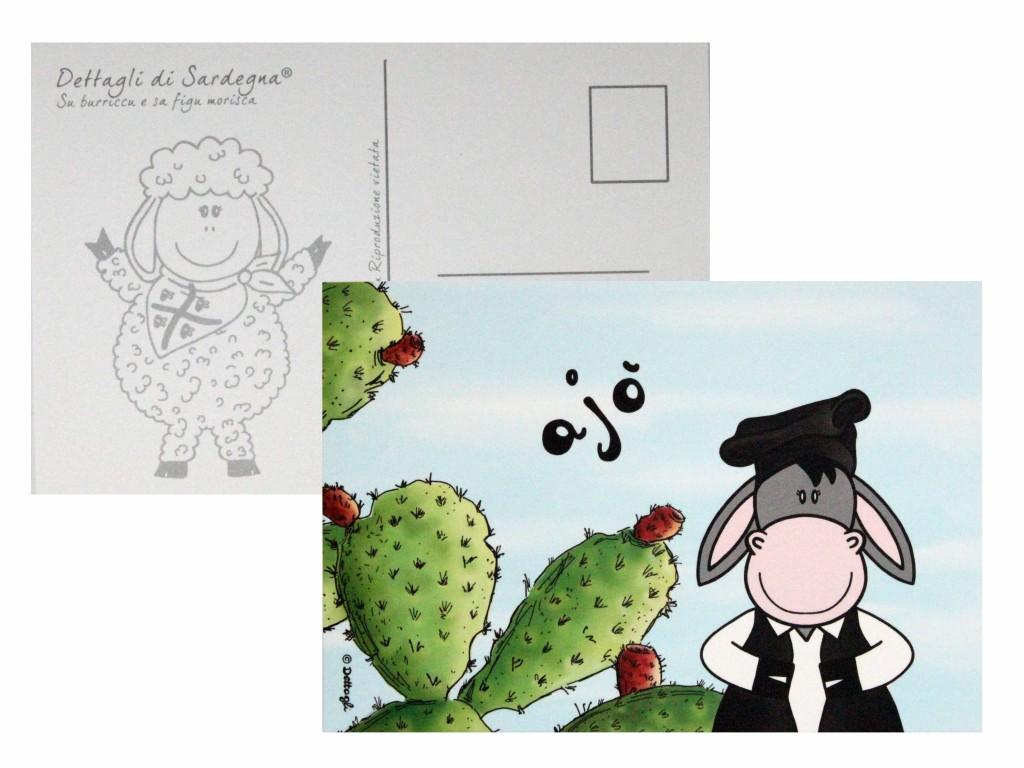 cartolina postale asinello sardo,souvenir della sardegna, creazioni dettagli cagliari,Sardinian donkey postcard, souvenir of Sardinia, Cagliari details creations,