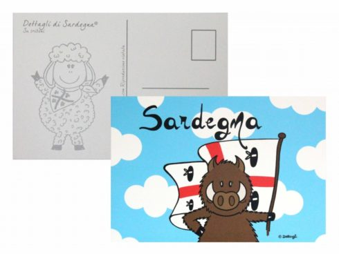 cartolina postale cinghialetto sardo,souvenir della sardegna, creazioni dettagli cagliari,postcard Sardinian wild boar, souvenirs of Sardinia, Cagliari details creations,