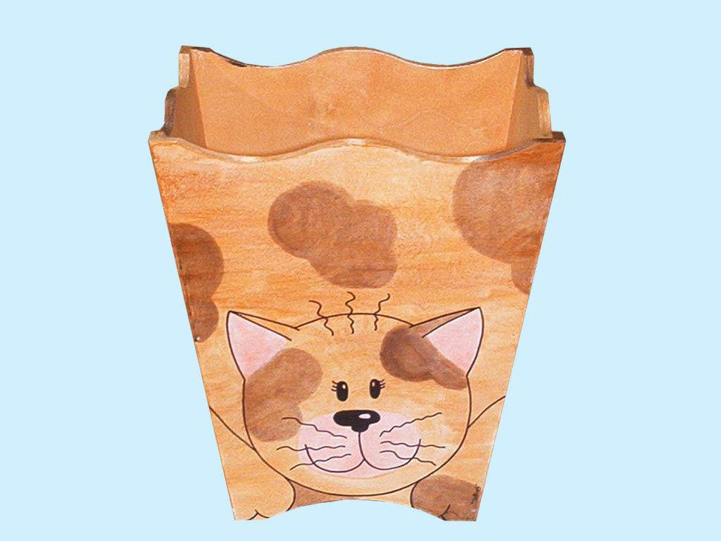 cestino gettacarte gatto