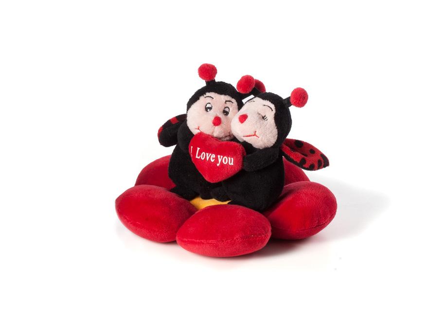 regalo ideale per san valentino festa degli innamorati coccinelle da collezione morbido peluche i love you