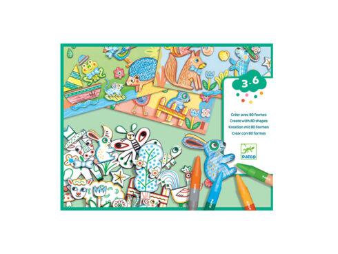 crea e colora le forme, giochi creativi per ragazzi, giochi djeco, dj08997