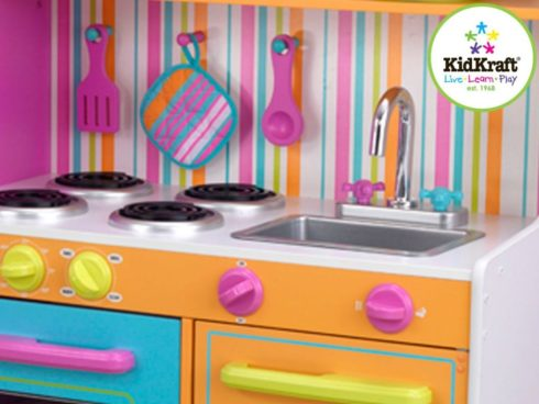 cucina deluxe per bambini,cucina giocattolo quasi reale,deluxe kitchen for children, toy kitchen near real-, kidkraft 53100