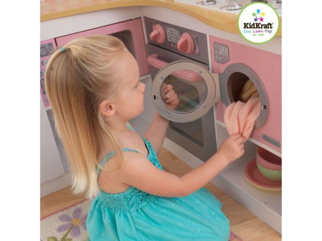 cucina ad angolo giocattolo ,piccoli cuochi,corner kitchen toy, small cooks,kidkraft 53185