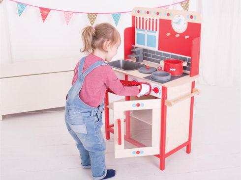 maxi cucina in legno per bambini, giochi di ruolo