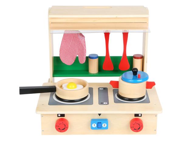 cucina giocattolo in valigetta richiudibile e trasportabile , bigjistoys,toy kitchen in case foldable and transportable, bigjistoys