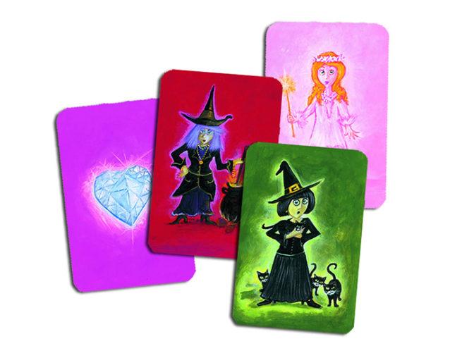 Gioco di carte, gioco di strategia, gioco di fate e streghe,Card game, strategy game, fairies and witches game dj05117