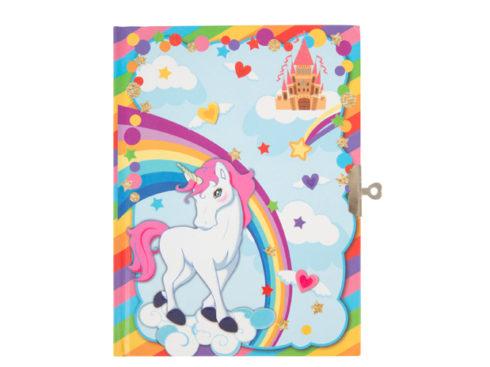 diario segreto per ragazzine, blocco con unicorno, diario con lucchetto