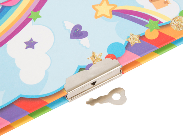 diario segreto per ragazzine, blocco con unicorno
