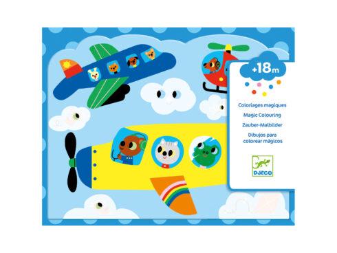 colorare con l'acqua, primi giochi creativi per bambini piccoli djeco, dj09061