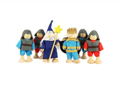 set cavalieri della tavola rotonda per castelli fiabeschi delle bambole,Set knights of the round table for the fairytale castles of the dolls,bigjigs toys