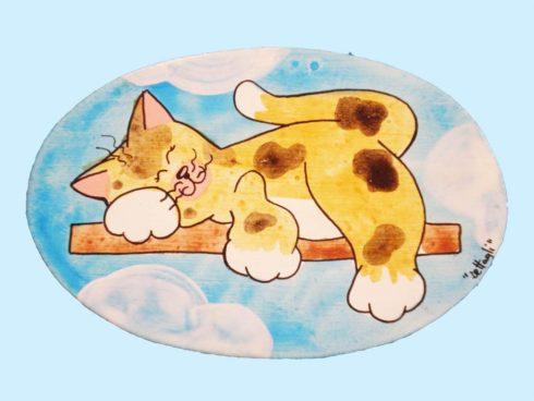 targhetta gatto