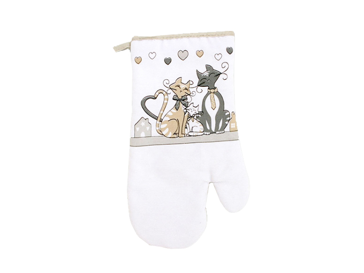 guanto da forno per una cucina allegra ideale come regalo per la mamma e per gli amanti dei gatti, accessori con gatto,oven mitt for a cheerful kitchen ideal as a gift for the mother and for lovers of cats, cats with accessories
