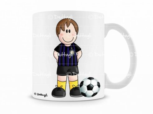 tazza personalizzabile con il nome squadra di calcio, regalo per tifoso, creazione Dettagli cagliari,mug personalized with the name of the football team, gift for a fan, creating Cagliari Details,