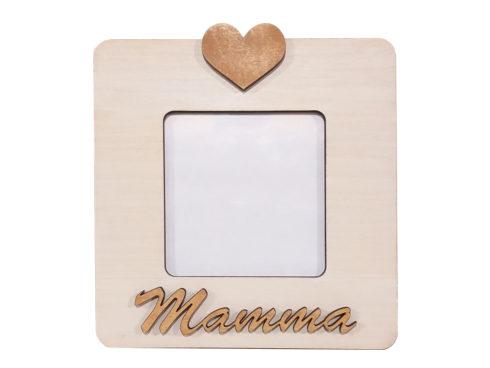 cornice portafoto in legno per la mamma , festa della mamma dettagli cagliari