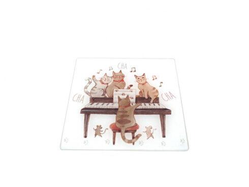 sottopentola, tagliere con gattini , piatto da portata con gatti,trivet, cutting board with kittens, platter with cats