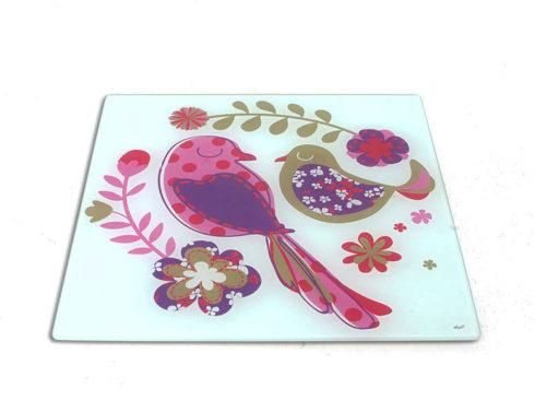 sottopentola, tagliere con uccellii ,piatto da portata con volatili,trivets, cutting board with birds, platter with volatile