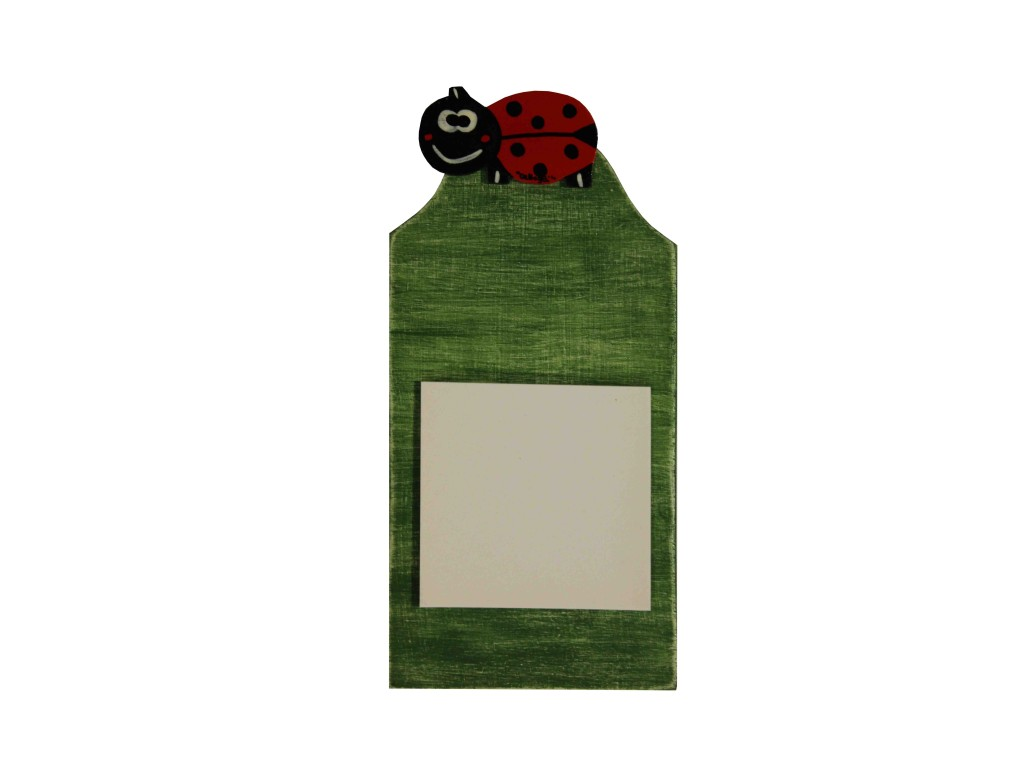 lavagnetta per promemoria, memo notes door with ladybug, ladybugs collectibles, gifts with ladybugs, memo porta appunti con coccinella , coccinelle da collezione ,oggettistica con coccinelle