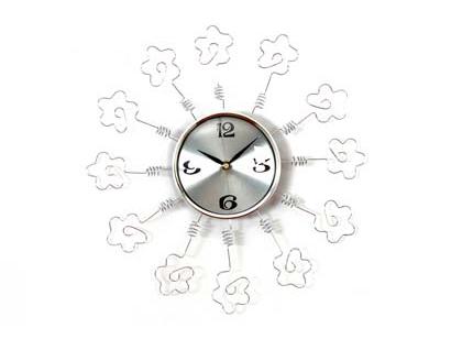 photo frame wall clock, sveglia orologio moderno, orologio alluminio, spirale portafoto